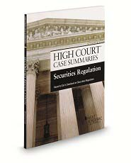 High Court Case Summaries on Securities Regulation, Keyed to Cox