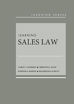 Chomsky, Kunz, Martin, and Schiltz's Learning Sales Law