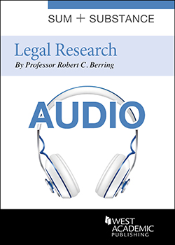 Cover of Sum and Substance Audio on Legal Research