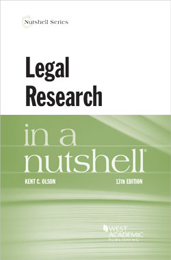 Olson's Legal Research in a Nutshell, 13th