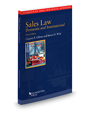 Sales Law, Domestic and International, 3d